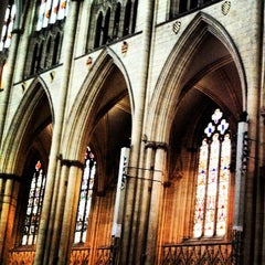 Photo taken at York Minster by Sarah B. on 6/11/2012