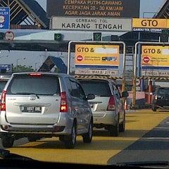 Photo taken at Gerbang Tol Karang Tengah by Putra A. on 8/19/2012