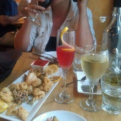 Photo taken at Carpaccio Trattoria by Andre H. on 6/17/2012