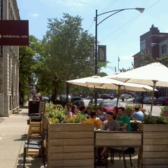 Photo taken at Milk & Honey Café by Russ on 7/20/2012