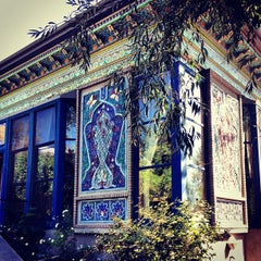 Photo taken at Dushanbe Teahouse by BJ H. on 8/7/2012