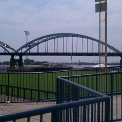 Photo taken at Modern Woodmen Park by Nick P. on 7/4/2012