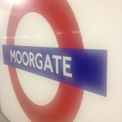 Photo taken at Moorgate Railway Station (MOG) by Livvy A . on 5/17/2012
