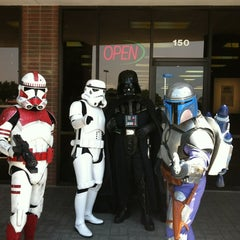 Photo taken at Madness Games and Comics by Alex V. on 5/5/2012