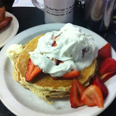 Photo taken at Red Hut Waffle Shop by Paul H. on 7/4/2012