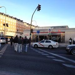 Photo taken at Metro Moncloa by Rafael Enrique V. on 3/8/2012