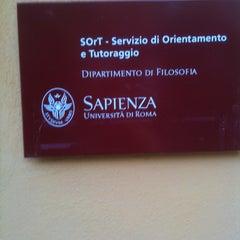 Photo taken at Sapienza - Facoltà di Filosofia by James C. on 9/4/2012