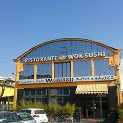 Photo taken at Wok Sushi by Daniela G. on 3/16/2012
