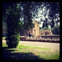 Photo taken at Villa Adriana by Ilenia B. on 4/28/2012
