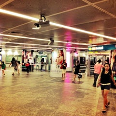 Photo taken at Orchard MRT Station (NS22) by Pitt C. on 6/6/2012