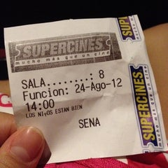 Photo taken at Super Cines 10 by Natalia T. on 8/24/2012