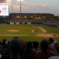 Photo taken at AutoZone Park by Mary F. on 6/17/2012