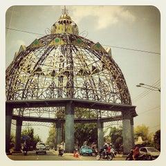 Photo taken at Tugu Adipura by Indira S. on 9/7/2012