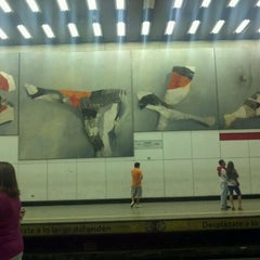 Photo taken at Metro Los Héroes by Cami on 4/7/2012