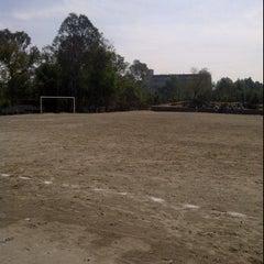 Photo taken at Cancha 4 - Liga UNAM by I P U. on 6/2/2012