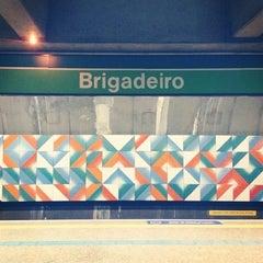Photo taken at Estação Brigadeiro (Metrô) by åmanda 🐼 on 6/16/2012