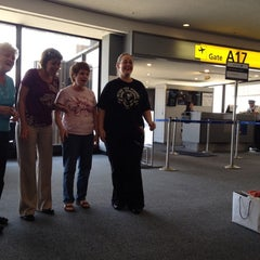 Photo taken at Gate A17 by Chuck M. on 8/11/2012
