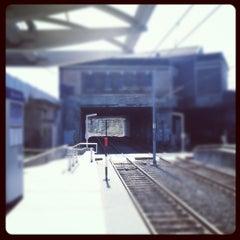 Photo taken at MetroLink - Delmar Loop Station by Karol on 3/13/2012