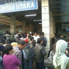 Photo taken at Stasiun Pasar Senen by Jakarta J. on 5/12/2012