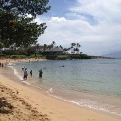Photo taken at Kapalua Bay Beach by Sarah C. on 4/4/2012