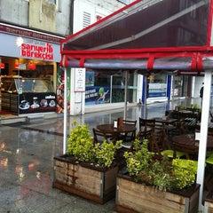 Photo taken at Tarihi Sarıyer Börekçisi by Kaan P. on 4/14/2012