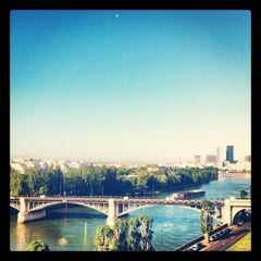 Photo taken at Pont de Levallois by Fred L. on 6/9/2012
