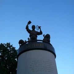 Photo taken at Arthur Ashe Monument by Donna Mc on 6/17/2012