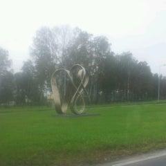 "Photo taken at ""Rīgai - 800"" piemineklis | Monument of ""Riga - 800"" by Сашенька Н. on 8/27/2012"