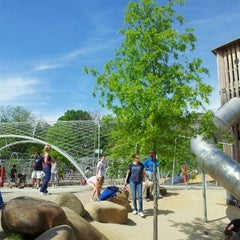 Photo taken at Woodland Discovery Playground @ Shelby Farms by Marqwesha C. on 4/8/2012