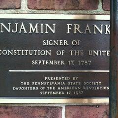 Photo taken at Benjamin Franklin's Grave by John W. on 3/1/2012