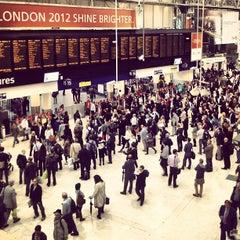 Photo taken at London Waterloo Railway Station (WAT) by Lewis G. on 7/16/2012