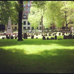 Photo taken at Granary Burying Ground by Kendra O. on 5/6/2012