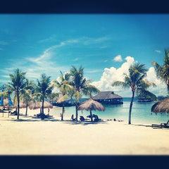 Photo taken at Bluewater Maribago Beach Resort by Eri Y. on 5/4/2012