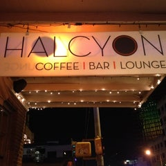 Photo taken at Halcyon Coffee, Bar & Lounge by Nick W. on 3/13/2012