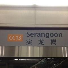 Photo taken at Serangoon MRT Interchange (NE12/CC13) by Jeremy O. on 7/22/2012