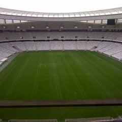 Photo taken at Cape Town Stadium by Noura on 7/6/2012
