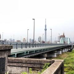 Photo taken at 四つ木橋 by balijin on 7/1/2012