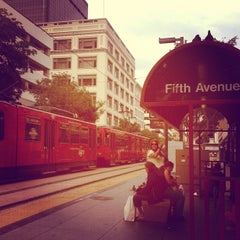 Photo taken at 5th Ave Trolley Station by Maria P. on 7/12/2012