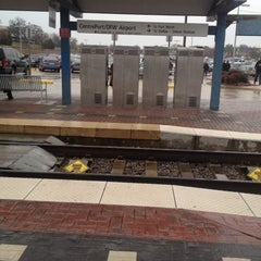 Photo taken at CentrePort / DFW Airport Station (TRE, DART bus, The T) by Mac on 2/17/2012