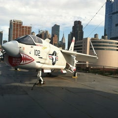 Photo taken at Intrepid Sea, Air & Space Museum by Caitlin on 8/26/2012