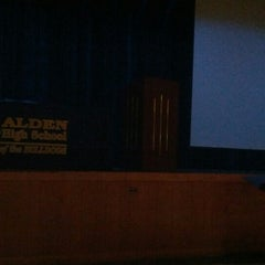 Photo taken at Alden High School by Brandon C. on 6/7/2012