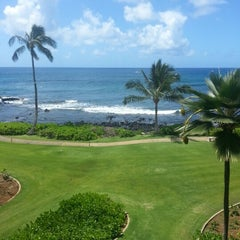 Photo taken at Sheraton Kauai Resort by they all call her a. on 9/13/2012