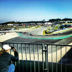 Photo taken at Nürburgring Mercedes-Tribüne by Rico O. on 8/12/2012