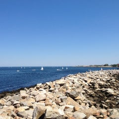 Photo taken at Rockport Harbor by Polly S. on 7/1/2012