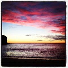 Photo taken at Mona Vale Beach by Tony M. on 6/4/2012