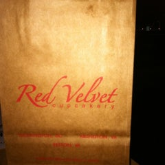 Photo taken at Red Velvet Cupcakery by Angelica H. on 4/19/2012