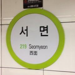 Photo taken at 서면역 (Seomyeon Stn.) by KJ on 6/10/2012
