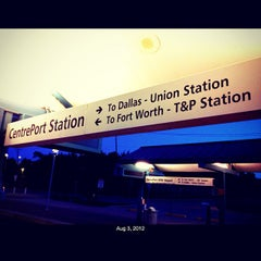 Photo taken at CentrePort / DFW Airport Station (TRE, DART bus, The T) by @JohnMischief on 8/3/2012