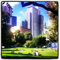 Photo taken at Yerba Buena Gardens by Michal K. on 7/18/2012
