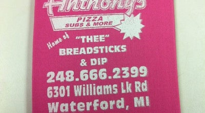 Photo of Pizza Place Anthony's Pizza and Party Shoppe at 6301 Williams Lake Rd, Waterford, MI 48329, United States